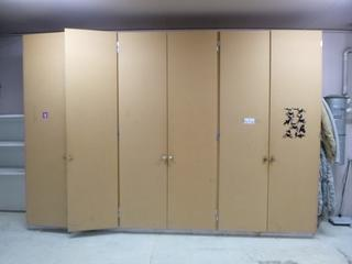 12ft X 8ft5in Custom MDF Storage Cabinet **Note: Buyer Responsible For Load Out, Located Offsite For More Info Contact Shazeeda @780-721-4178**