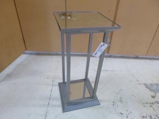 32in X 15in X 15in Mirrored Plant Stand **Note: Buyer Responsible For Load Out, Located Offsite For More Info Contact Shazeeda @780-721-4178**