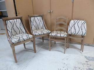 Qty Of (2) Casual Fabric Chairs C/w (2) Folding Chairs **Note: Buyer Responsible For Load Out, Located Offsite For More Info Contact Shazeeda @780-721-4178**