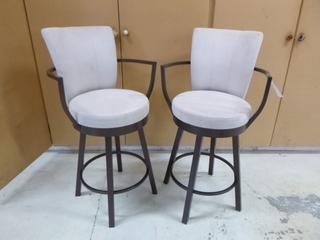 Qty Of (2) Fabric Counter Chairs **Note: Buyer Responsible For Load Out, Located Offsite For More Info Contact Shazeeda @780-721-4178**