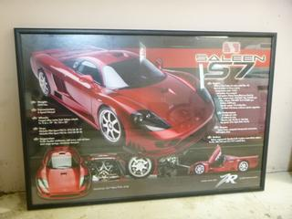 40in X 27.5in Saleen S7 Picture **Note: Buyer Responsible For Load Out, Located Offsite For More Info Contact Shazeeda @780-721-4178**