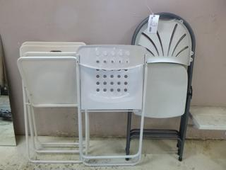 Qty Of (5) Folding Chairs **Note: Buyer Responsible For Load Out, Located Offsite For More Info Contact Shazeeda @780-721-4178**