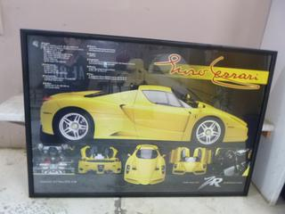 40in X 27.5in Ferrari Picture **Note: Buyer Responsible For Load Out, Located Offsite For More Info Contact Shazeeda @780-721-4178**