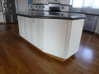 60in X 95.5in Kitchen Island w/ Blue Pearl Granite Counter Top C/w Built In Ironing Board, Flip Up Juicing Table, Built In Electrical Plug And 12in Overhang For Bar Stools **Note: Buyer Responsible For Load Out, Located Offsite For More Info Contact Shazeeda @780-721-4178**