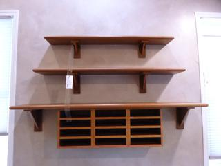 72in X 12in Custom Macory Vanier Shelf C/w 58in X 10in Custom Macory Shelf, 52in X 8in Custom Macory Shelf And (3) Organizers **Note: Buyer Responsible For Load Out, Located Offsite For More Info Contact Shazeeda @780-721-4178**
