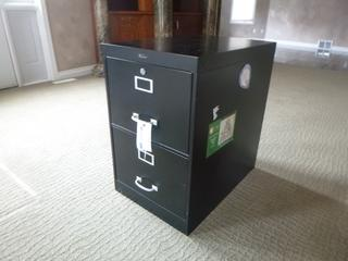 2-Drawer Metal Filing Cabinet **Note: Buyer Responsible For Load Out, Located Offsite For More Info Contact Shazeeda @780-721-4178**