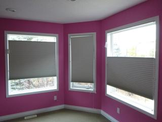 (2) 46in And (1) 26in Top Down Bottom Up Hunter Douglas Blinds **Note: Buyer Responsible For Load Out, Located Offsite For More Info Contact Shazeeda @780-721-4178**