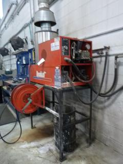 Dynablast 208V 3000PSI 3-Phase Cleaning System C/w Reel, Hose And Spray Wand. SN 20100319 *Note: Buyer Responsible for Load Out*