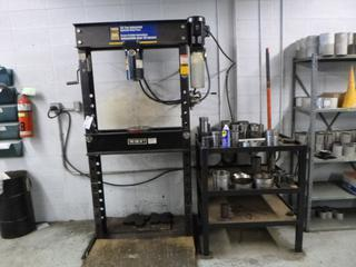 2008 Powerfist 50-Ton Industrial Hydraulic Shop Press. SN 008-53728 *Note: Buyer Responsible For Load Out*