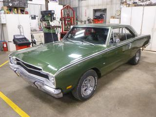 1969 Dodge Dart GT Coupe c/w 340 Four Barrel, A/T, Showing 461 Miles, Front Tires P205/70R14, Rear Tires P245/60R14 At 90%, Hooker Headers, Edelbrock Valve Covers, Edelbrock Heads, Holley Carb., Disc Brake In Front, VIN LP23F9B448261