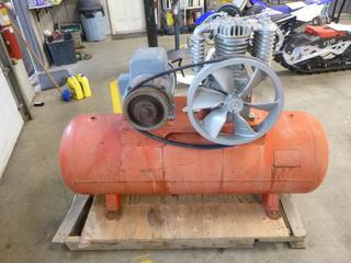 (1) Steel Fab Air Compressor w/ Baldor 230 V Motor, 5 HP