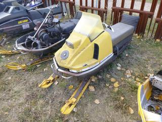 Bombardier TNT Snowmobile, Showing 2,735 Miles, SN 7142761754 *NOTE: Parts Only*