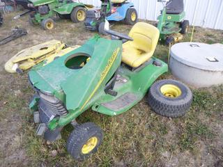 John Deere LT160 Auto Riding Lawn Mower, SN M0L160D424747 *Note: Parts Only, No Mowing Deck*
