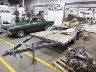 14 Ft. T/A Flat Deck c/w P165/80R13 Tires *Note: No VIN*