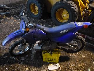 2004 Yamaha Dirt Bike c/w 2.50X14 Front Tire At 80%, 3.00X12 Rear Tire At 70%, JYACB06W64A000650 *Note: Does Not Run, Top End Missing*