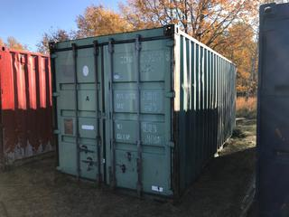 Storage Container - Light Green. 8'x8'x20'. CLLU 2130788. **Contents Not Included. No Loading Equipment on Site. Pickup is LAST DAY of Loadout**