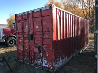 Storage Container - Red. 8'x8'x20'. **Contents Not Included. No Loading Equipment on Site. Pickup is LAST DAY of Loadout**
