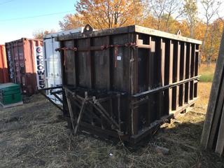 Custom Built Form To Make Concrete Storage Containers. Form Makes 6'x6'x12'.