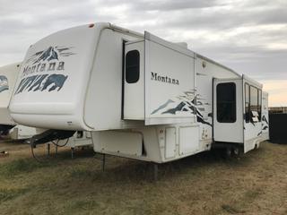 "2004 Keystone Montana 3650RK 36'6""  Quad Slide Fifth Wheel Trailer Dual Axle, Rear Kitchen, Bedroom Slide, Full size shower, 100% Aluminum Frame"