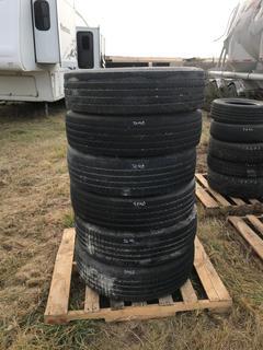 (6) West Lake 255/70R22.5 Tires. CR976A.