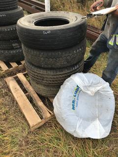 (4) 235/85R16 & 205/65R15 Tires.