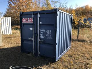 Rent-Me Storage Container - Blue. 8'x8'x8'. CPN 1739641. **Contents Not Included. No Loading Equipment on Site. Pickup is LAST DAY of Loadout**