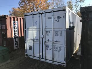 Big Steel Box Storage Container- White. 8'x8'x20'. BSBU 215126. **Contents Not Included. No Loading Equipment on Site. Pickup is LAST DAY of Loadout**