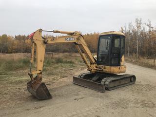 2004 Deere 50C ZTS Mini Excavator, 2,765 HRS, S/N FF050CX241673.