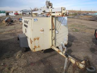 Ingersoll-Rand L6 Light Plant c/w Kubota Engine. Showing 1948 Hours, Note:  No Lights, Generator Requires Repair.