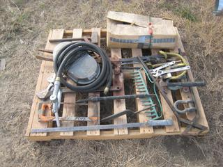 Pallet c/o Pump Handle, Hose, Hammer, Wrench, Saw, Clamp, Tongs, Pick Heads & Shackles.