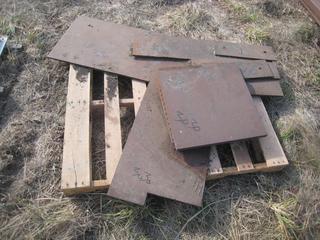 Pallet of Steel Plate Cut Offs.