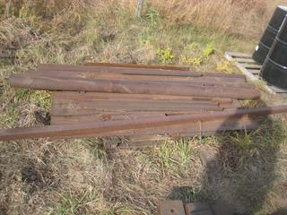"Pallet of Steel 1/4"" Plate 24""x60"", 2""x8' 4"" C-Channel, 4"" Pipe 8' Long."