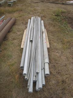 """Pallet of Misc. PVC Pipe In 2"""", 3"""", 3/4"""" Diameter Up to 10' In Length."""