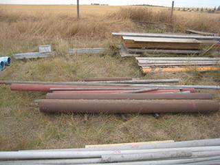 """Pallet of Pipe Mild Steel 2"""", 4"""", 6"""" Diameter, 2', 6' & 10' Length."""