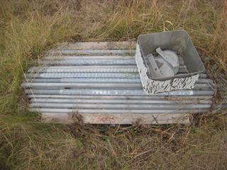 """Pallet of Galvanized 1 1/4""""x52"""" Rods w/Threaded Ends Quantity Unknown."""