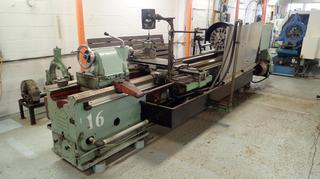 Stanko IM63B 220V 3-Phase Lathe C/w 19in Lathe, Turning Tool, Live Centers, Newall Readout, Steady Rest And 15in Chuck. SN 2759. *Note: Buyer Responsible For Load Out, Scheduled Removal Required Please Contact Matt @780-360-3513*