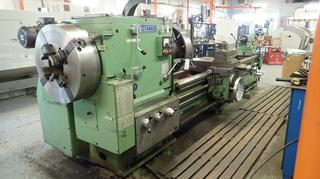 Stanko 380V 3-Phase 8in Hollow Spindle Lathe C/w 112in Center, Newall C80 Readout, Steady Rest, 25in Chuck And Aluminum Shielding *Note: Buyer Responsible For Load Out, Scheduled Removal Required Please Contact Matt @780-360-3513*