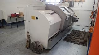 2002 Gildemeister NEF 520 24kva 230V 3-Phase CNC Lathe C/w 13in Chuck, Heidenhain Controls, Steady Rest, Turning Tool, 17in 4-Jaw Chuck, Live Center And 60in Centers. SN 01510003051 *Note: Buyer Responsible For Load Out, Scheduled Removal Required Please Contact Matt @780-360-3513*