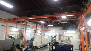 60ft X 27ft Overhead Crane System, C/w (2) Kito IT Electric Chain Hoist *Note: Jib Cranes Not Included, Buyer Responsible For Load Out, Scheduled Removal Required Please Contact Matt @780-360-3513*