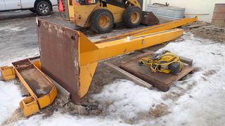 Cranes R Us 24ft X 15ft 1/4-Ton Jib Crane Frame C/w 1/4-Ton GIS250 Electric Chain Hoist. SN 1032. *Note: Buyer Responsible For Load Out*