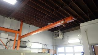 15ft X 10ft Jib Crane *Note: Chain Fall Not Included, Buyer Responsible For Load Out*