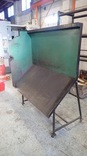 60in X 23in X 68 1/2in Custom Built Portable Steel Spark Shield