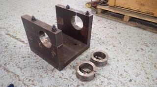 15 1/2in X 15 1/2in X 13 1/2in Custom Built 5in Boring Bar Holder C/w Inserts For 3in Boring Bars