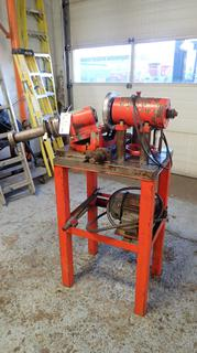 Gundrill Bit Sharpener w/ 2hp, 3-Phase GE Induction Motor *Note: Running Condition Unknown*