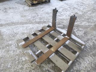 (2) 4ft Forklift Forks