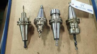 (2) Cat 40 ER32-2.75 Tool Holders C/w Cat 40 EM025-0250 Tool Holder And Cat 40 EM037-0250 Tool Holder