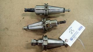 Cat 40 EM075-0250 Tool Holder C/w Cat 40 EM050-0250 Tool Holder And Cat 40 ER16H-0250 Tool Holder