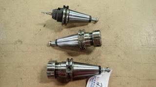 Cat 40 ER32-0250 Tool Holder C/w Cat 40 ER32-0275 Tool Holder And (1) Seco Cat 40 E2502-S84 Tool Holder