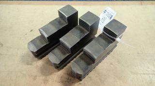 Qty Of (3) 5 3/4in X 1 1/2in X 3 1/2in Chuck Jaws