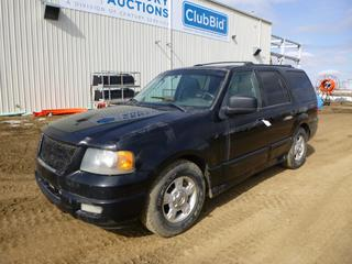 2004 Ford Expedition NBX 4X4 c/w Triton 5.4L, Showing 310,572 Kms, A/T, A/C, Power Sunroof, 265/70R17 Front Tires at 20%, Rear Tires at 30%, Aftermarket Stereo, VIN 1FMFV16LX4LB53636 *Note: New Battery, Minor Rust*